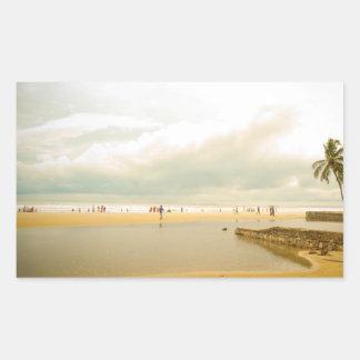 Goa Seaside picture Rectangular Sticker