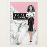 "Goal Blooded Planner<br><div class=""desc"">Chic marble and pink planner. Goal blooded</div>"
