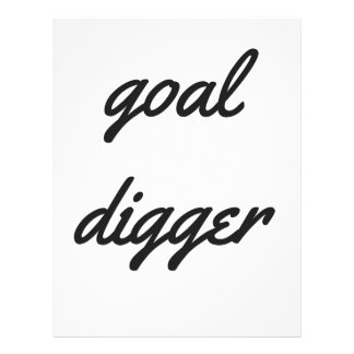 Goal Digger Humor Design Collection Illustration Letterhead