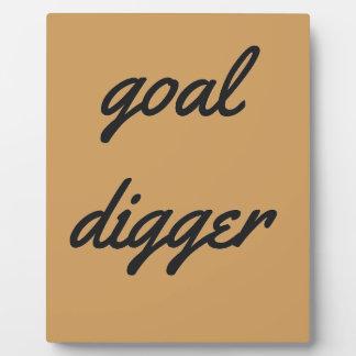 Goal Digger Humor Design Collection Illustration Plaque