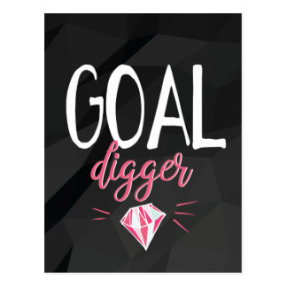 Goal Digger, Motivated Girl Postcard