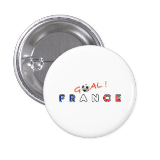 GOAL France 1 Inch Round Button
