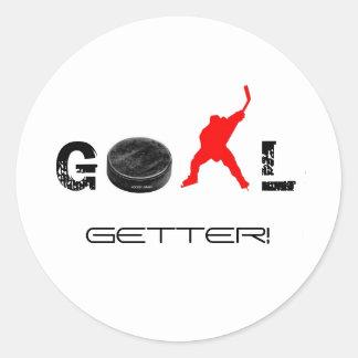 GOAL GETTER! CLASSIC ROUND STICKER