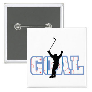Goal - Ice Hockey Score - Sports Gifts Button
