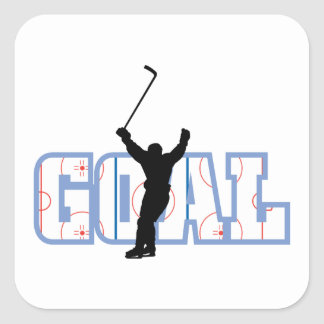 Goal - Ice Hockey Score - Sports Gifts Square Sticker