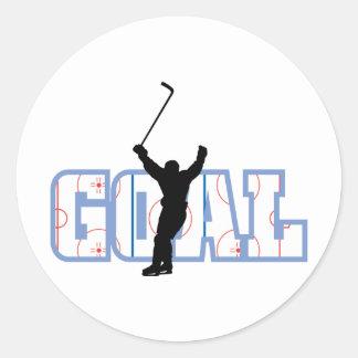 Goal - Ice Hockey Score - Sports Gifts Round Stickers