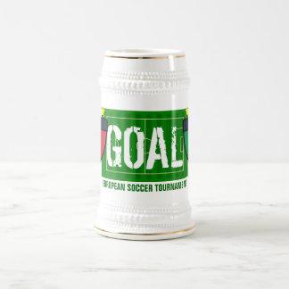 Goal Italia Italy European Soccer Tournament Beer 18 Oz Beer Stein