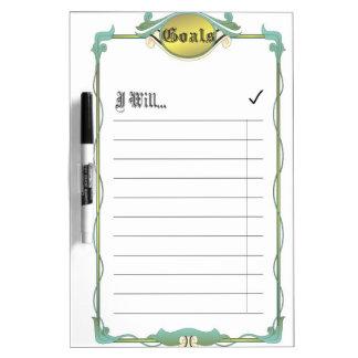 Goal List Dry-Erase Whiteboards