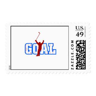 Goal Postage Stamp