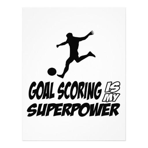 Goal scorer my superpower customized letterhead