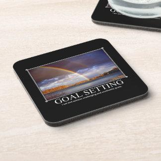 Goal Setting Custom Coaster