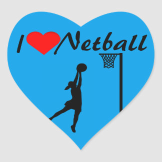 Goal Shooter I Heart Netball Heart Sticker