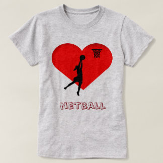 Goal Shooter Love Heart Netball T-Shirt