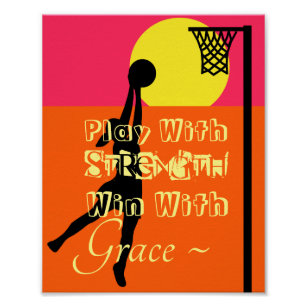 Netball Motivational Quote Gifts on Zazzle