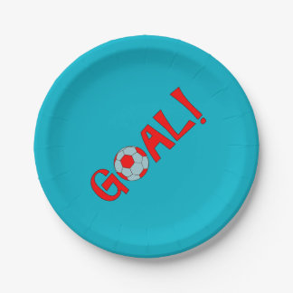 GOAL - Soccer Birthday Party Plates