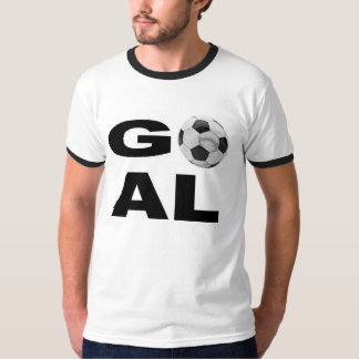 GOAL - soccer t-shirt with soccer ball graphic