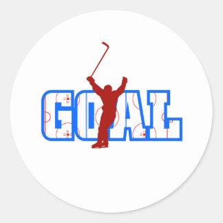 Goal Round Sticker