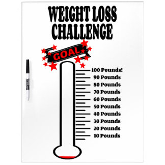 Goal Thermometer 100 Pound Weight Loss Goal Dry-Erase Whiteboards