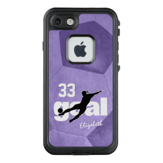 Goal women's soccer player name jersey number LifeProof FRĒ iPhone 7 case