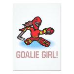 """Goalie Girl 5"""" X 7"""" Invitation Card"""