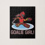 Goalie Girl Jigsaw Puzzles