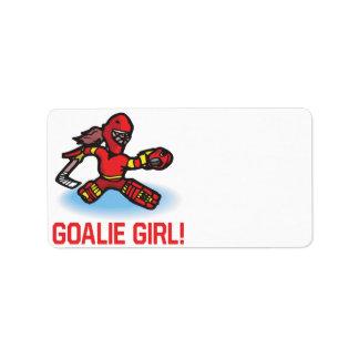 Goalie Girl Label