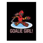 Goalie Girl Postcard
