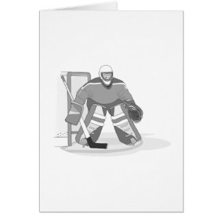 Goalie Gray Greeting Cards