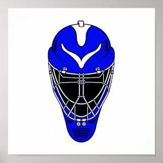 Goalie Helmet Blue Poster