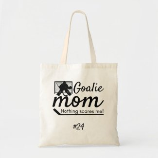 Goalie Hockey Mom tote bag black