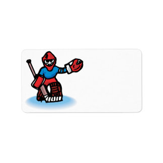 Goalie Personalized Address Labels