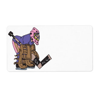 Goalie Personalized Shipping Label