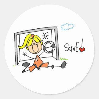 Goalie Makes The Save Sticker