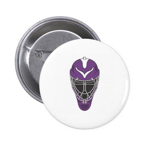 Goalie Mask Pinback Buttons