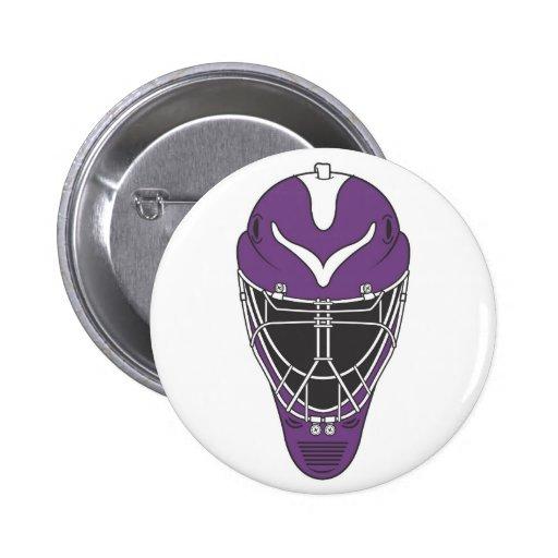 Goalie Mask Pinback Button