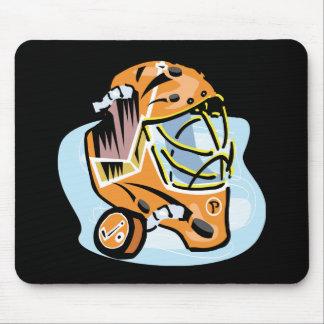 Goalie Mask Gold Mouse Pad