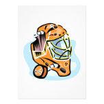 Goalie Mask Gold Personalized Invitation