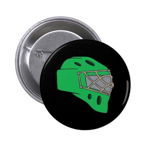 Goalie Mask Green Buttons