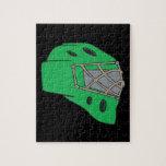 Goalie Mask Green Jigsaw Puzzles