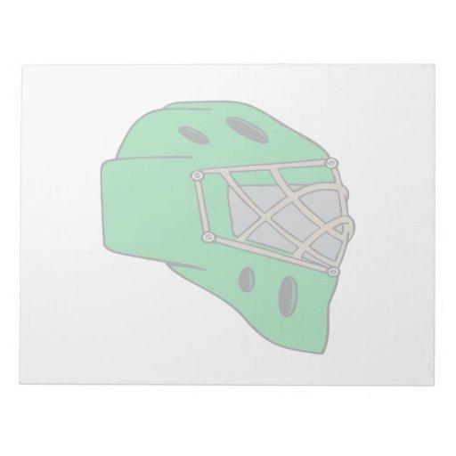 Goalie Mask Green Memo Pads