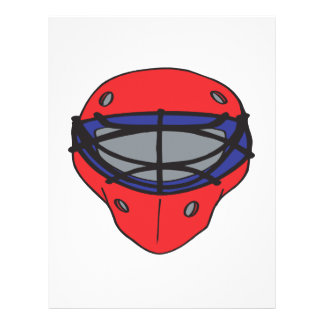 """Goalie Mask Red And Blue 8.5"""" X 11"""" Flyer"""