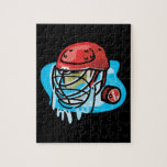 Goalie Mask Red Jigsaw Puzzles