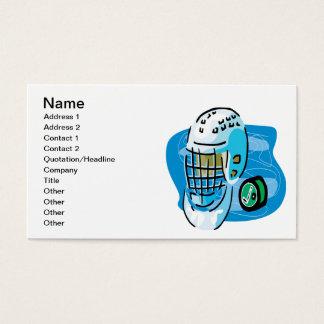 Goalie Mask White Business Card
