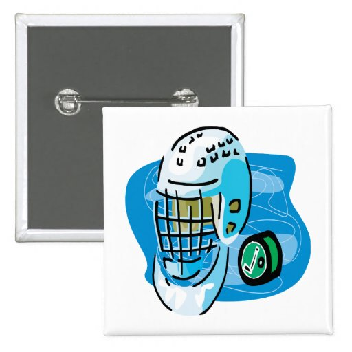 Goalie Mask White Pins