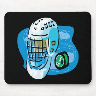 Goalie Mask White Mouse Pad