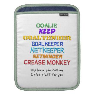Goalie Names ipad Sleeve