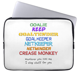Goalie Names Laptop cover Laptop Sleeves