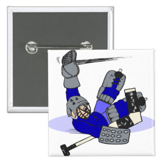 Goalie Save 2 Inch Square Button