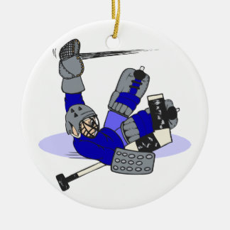 Goalie Save Ceramic Ornament