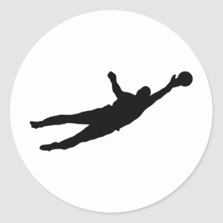 Goalie Save Classic Round Sticker